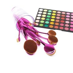 $28.49 -- Purple 10pc #Oval #Cosmetic #Makeup #brush set -- Perfect gift for MOM -- get #25% off #coupon #AGOACYNC BUY IT NOW: http://amzn.to/24kJI8r