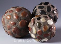 Best Hypertufa Recipe | DIY a River-Rock-Mosaic Garden Ball.