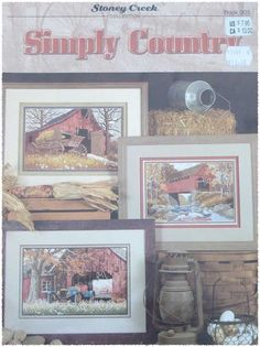 Stoney Creek Simply Country Counted Cross Stitch by TheHowlingHag, $5.95