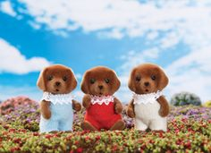 Calico Critters Chocolate Lab Triplets #toys #kids