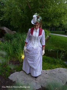 1887 Summer Berry Trifle Dress | How to make awesome historical costumes. Lots of patterns and tips and gorgeous pictures, and now I just want to play a Victorian LARP.