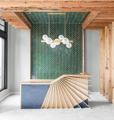 From the traditional brick set to a trendy herringbone, Garden State Tile explores 7 different subway tile patterns for your home or business. Education Architecture, Interior Architecture, What Is Interior Design, Subway Tile Patterns, Reception Desk Design, Reception Table, Counter Design, Kitchen Design, Lobby Interior