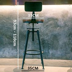 Options: With Backrest or Without BackrestMaterial: MetalMetal Type: IronAppearance: Antique VintageSize: Seat Diameter 13 inches; Kitchen Counter Chairs, Coin Bar, Breakfast Bar Stools, Scandinavian Dining Chairs, Patterned Armchair, Cafe Chairs, Desk Chairs, Metal Bar Stools, Rustic Industrial