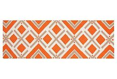 "2'6""x8' $170 One Kings Lane - Get It Together -  Cos Flat-Weave Runner, Orange"