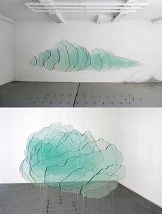 Pierre Malphettes Un Nuage de verre glass & cables '09 [600x792] Sculpture Art, Sculptures, Artistic Installation, Art Abstrait, Display Design, Land Art, Art Plastique, Light Art, Glass Design