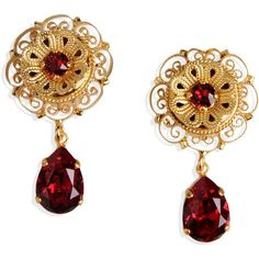 Dolce & Gabbana Earrings (3.073.910 IDR) ❤ liked on Polyvore featuring jewelry, earrings, gold, dolce gabbana earrings, dolce gabbana jewelry and earring jewelry