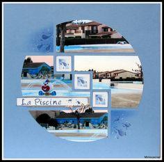 circle design scrapbook layout vacation holiday beach travel