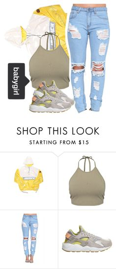 """""""babygirl"""" by asccsa-cdxii ❤ liked on Polyvore featuring Joyrich, NLY Trend and NIKE"""