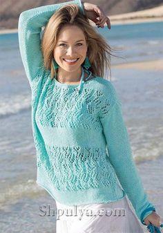 Ажурные летние пуловеры - как связать, модели, узоры, схемы, описания и выкройки