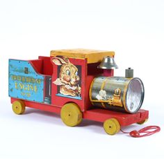 Image detail for -Vintage Fisher Price Peter Bunny Engine Pull Toy | Antique Helper