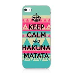 KEEP CALM AND HAKUNA MATATA Snap On Case Hard Cover For iPhone 5 5s 2013 New. Unique picture printed on the case for iphone 5 5s NEW 2013. Made with high quality hard plastic, it's durable. The case only cover the back and the two sides, not the top or bottom. Protects your mobile phone against scratches, dirt, fingerprints and other daily damages. Package by USPS Shipping, with tracking number 8-12 working arrive.