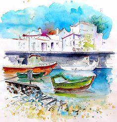 Watercolor and pen art