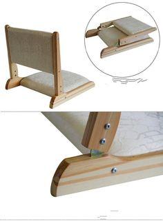 Floor Anese Zaisu Chair Folding Legs Natural Finish 2pcs Lot Tatami Legles For Living Room Asian Traditional Furniture