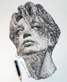 Flowing portraits I really like these dynamic swirling drawings by artist Lee. They're like a cross between van Gogh, DeepDream, and Wind Map. Portrait Drawing, Animal Art, Sketches, Art Sketchbook, Art Drawings, Colossal Art, Bts Drawings, Portrait, Portrait Art