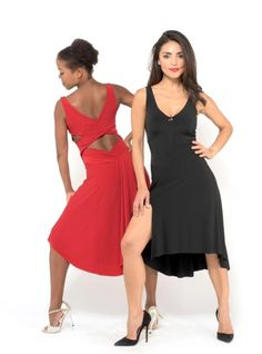 D1 The criss cross top and draped back skirt tango dress 8