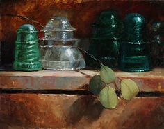 Insulators by Kathy Tate Oil ~ 11 x 14
