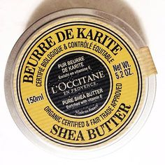 L'occitane's ultra-nourishing Organic Pure Shea Butter takes care of lips, skin, elbows, feet and even hair!