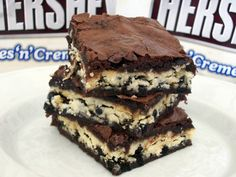 Cookies 'n' Creme Bar Brownies from Amber's Confections