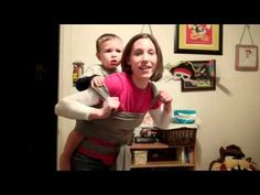 """Demonstration of why """"stretchy"""" wrap baby carriers (e.g. Moby) are not safe in a back carry"""
