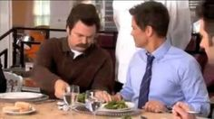 Ron Swanson - The food my food eats