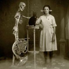 Bizarre. family portrait.