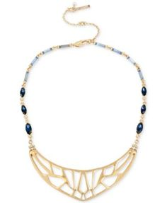 Kenneth Cole New York Gold-Tone Cut-Out Beaded Collar Necklace