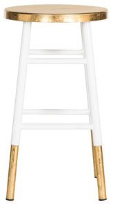 Gold and white barstool