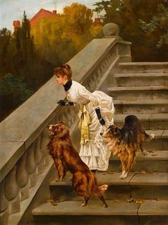 Waiting for master by Arthur Wardle