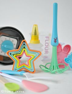 The Tala Mini Bakery 3 In 1 Measure is an easy to read, child-friendly baking essential for measuring flour, sugar and liquid. Baking Supplies, Bakeware, Birthday Candles, Mini, Tabletop, Decor, Decoration, Table, Baked Goods