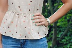 Polka dots and peplum!? I just died! Where can I get this?