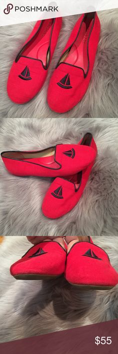 TALBOTS Navy Red SUEDE LEATHER BALLET FLATS TALBOTS Navy Red SUEDE LEATHER BALLET FLATS Shoes Loafers size 8 new with out box Talbots Shoes Flats & Loafers