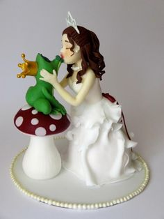 princess and the frog wedding cake topper fondant frog cake topper princess frog topper for 18762