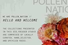 In store signage for Pollen Nation.