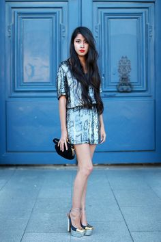 Denni Elias. See more. Anyone who can make animal print blue sequins look  this sophisticated really knows how to dress f20c893c034b6