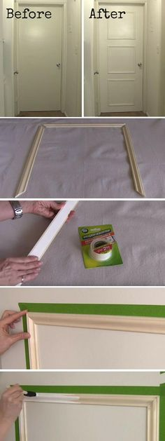 How to Add Decorative Trim to Any Door | DIY Crafts Tips