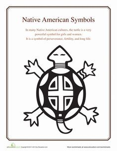 Printable+Native+American+Symbols | native american symbols turtle introduce your student to native ...