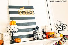 Craftaholics Anonymous®   EASY Halloween Crafts with TUTORIALS