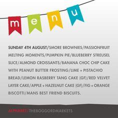 Menu - Sunday 04.08.13