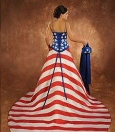 The Best Collection of American Flag Wedding Dresses 2