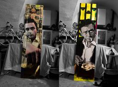 Double #Johnny #Cash  by Brother's Art,