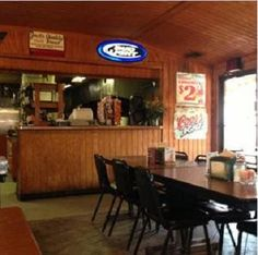View of the counter at the Smok-Shak in Ingersoll, OK