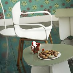 Mesa de Leitura Munique Olive e Cadeira Asa Branca.