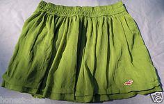 Juniors Hollister Abercrombie Fitch Olive Green Bettys Short Mini Skirt  On Sale
