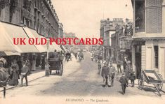 PUBLISHER - Hiscoke & Son, Richmond (LL style ) - Ref #. CAPTIONED- RICHMOND - The Quadrant. | eBay! Richmond Upon Thames, Busy Street, Old Postcards, Surrey, Sons, Business, Ebay, Style, Guys