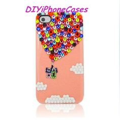 iPhone 5 Case iPhone 4 Case swarovski crystal iPhone 5s Case iPhone 5 cover Hot Air balloon iphone 5c case bling Phone Cover Cloud iPhone 4s by DIYiPhoneCases on Etsy