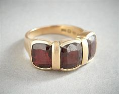 Ring, gold and garnets, Stockholm 1955 Stockholm, Garnet, 18k Gold, Sunglasses, Rings, Jewelry, Granada, Jewlery, Jewerly