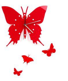 Cool Creative Schmetterlings Entwurf Wanduhr Diy Plastic Home Decor Clock Gro handel Geburtstag