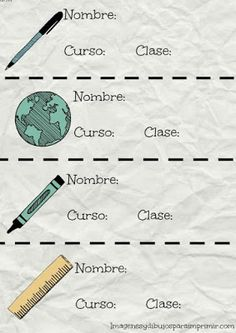 Etiquetas escolares para imprimir gratis School Id, Back 2 School, Printable Labels, Printable Art, Printables, Party Invitations Kids, Ideas Para Fiestas, Teacher Hacks, Holidays And Events