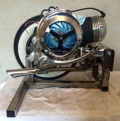 Vespa GS150 engine stand.