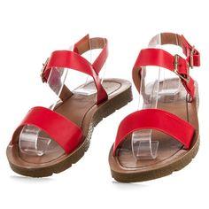 Červené sandále dámske JK-56R